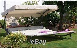 Hammock With Stand 2 Person Chaise Lounge Patio Furniture Sling Outdoor Canopy