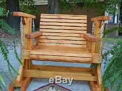 Handmade Southern Style Glider, Patio Furniture, Patio Set, Outdoor Furniture, Swing