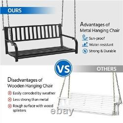 Hanging Porch Swing Bench Patio Deck Chair Swing Seat Outdoor Furniture withChains