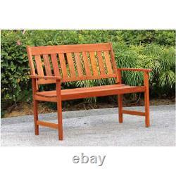 Jakarta New Improved Outdoor Wooden 2-3 Seater Bench Garden Patio Furniture