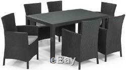 KETER Rattan Garden Furniture Set 6 chairs Table Outdoor Patio Conservatory