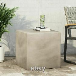 Kambreigh Outdoor Lightweight Concrete Side Table
