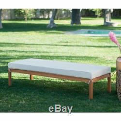 Khaki Cushion Patio Daybed Ottoman Set Outdoor Home Furniture Garden Backyard