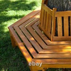 Natural Cedar Wood Garden Tree Surround Bench Outdoor Home Furniture Patio