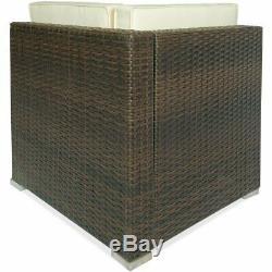 New 4X Sectional Rattan Wicker Sofa Set Patio Garden Cushioned Outdoor Furniture