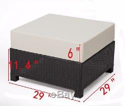 New 9PC Deluxe Outdoor Garden Patio Rattan Wicker Furniture Sectional Sofa 6080