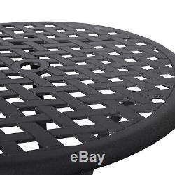 Nuu Garden 3 Piece Outdoor Cast Aluminum Rust Proof Patio Bistro Set Furniture