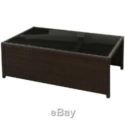 Outdoor 8PC Rattan Furniture Sectional Wicker Patio Garden Sofa Set Couch Brown