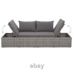 Outdoor Adjustable Lounge Rattan Wicker Patio Sun Bed Lounger Garden Furniture