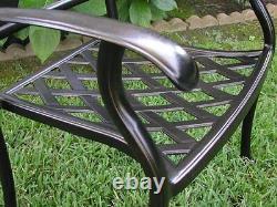 Outdoor Cast Aluminum Great Patio Furniture 5 Piece Swivel Chair Dining Set G