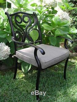 Outdoor Cast Aluminum Patio Furniture 7 Piece Dining Set G All Swivel Arm Chairs
