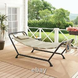 Outdoor Chaise Lounge Chair Hammock Swing Stand Bed Patio Garden Furniture Pool