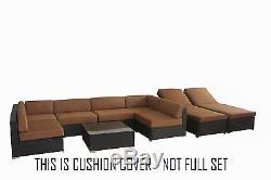 Outdoor Cushion Cover Wicker Rattan Garden Patio Furniture BroyerK NOT FULL SET