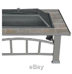 Outdoor Fire Pit Ceramic Antique Bronze Table Top Patio Furniture Outdoor Yard A