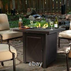 Outdoor Firepit Table Patio Deck Furniture Backyard Heater Fireplace Gas LP
