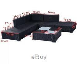 Outdoor Garden Furniture Patio Corner Sofa Set PE Wicker Steel Fram Summer House