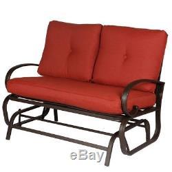 Outdoor Glider Rocking Chair Garden Patio Loveseat Furniture Swing Lounge Couch