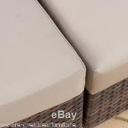 Outdoor Patio Furniture 6-piece Multi-Brown PE Wicker Sofa Sectional