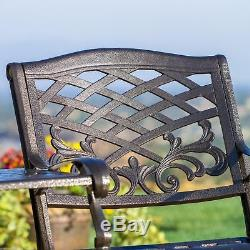 Outdoor Patio Furniture Cast Aluminum 2-seater Set / Bench / Chairs