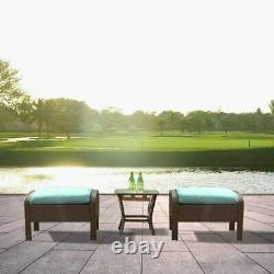 Outdoor Patio Furniture Sets Rattan Wicker Sofa Ottoman Couch Chairs Table Green