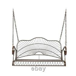 Outdoor Porch Swing 2-Person Bench Patio Chair Hanging Seat Yard Furniture