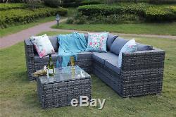 Outdoor Rattan Garden Furniture 5 Seater Corner Sofa Patio Set