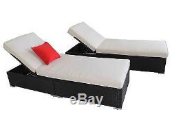 Outdoor Rattan Set 9 Pcs Sofa Wicker Sectional Garden Patio Furniture New Lounge