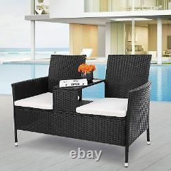 Outdoor Rattan Sofa Patio Wicker Furniture Garden Conversation Set