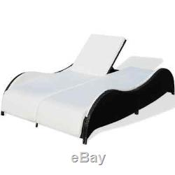Outdoor Rattan Wicker Patio Pool Chaise Lounge Chair Table Bed Furniture Set New