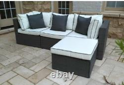 Outdoor Rattan Wicker Sectional Sofa Couch Set Cushioned Furniture Patio Gray