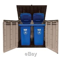 Outdoor Storage Cabinet Shed Patio Furniture Garden Backyard Building Resin Pool