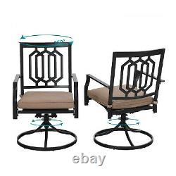 Outdoor Swivel Chairs Set of 2 with Cushion Patio Dining Rocker Chair Furniture