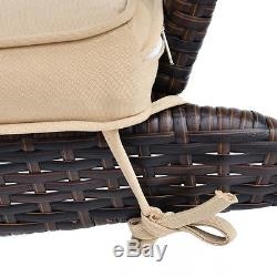 Outdoor Wicker Adirondack Chair Patio Porch Deck Furniture with Seat Cushion New