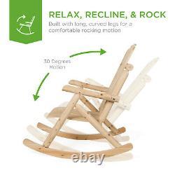 Outdoor Wood Rocking Chair Rustic Log Patio Garden Furniture Porch Seat