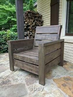 Outdoor furniture. Handmade wooden patio, porch or backyard chairs. Customizable