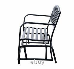 Outsunny Bench Glider Rocking Chair Outdoor Patio Garden Furniture Deck Loveseat