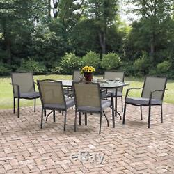 PATIO DINING SET Chairs Table Outdoor Garden Yard Home Furniture Burlap 7 PIECE
