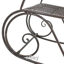 Pair of Rocking Chair Outdoor Patio Furniture Porch Seat Deck Iron Glider Rocker