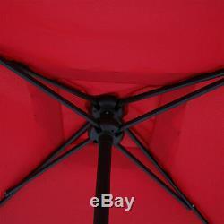 Patio 6 Piece Dining Set Outdoor Furniture Folding Table Chairs Umbrella Garden