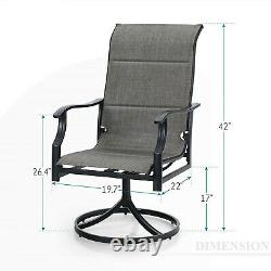 Patio Chairs Set of 2 Swivel Outdoor Dining Chairs Rocker Lawn Garden Furniture