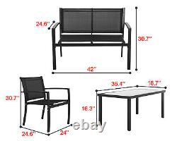 Patio Conversation Sets Patio Furniture Outdoor Table And Chairs 4 Piece Patio