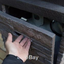 Patio Deck Fire Pit Bowl Table Propane Backyard Outdoor Furniture Heater LP Gas