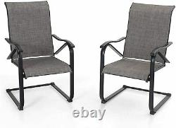 Patio Dining Chairs Set of 4 Outdoor Chairs Furniture for Lawn Garden Balcony
