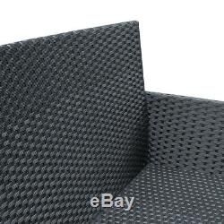 Patio Furniture 4 Pcs Outdoor Wicker Sofas Rattan Chair Wicker Conversation Set