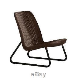 Patio Furniture Conversation Set 3 Pcs Outdoor Chair Table Garden Backyard Brown