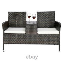 Patio Furniture Garden Lawn Pool Seat Rattan Wicker Lover Chair Yard Outdoor Set