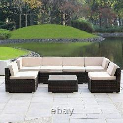 Patio Furniture Outdoor Rattan Wicker Adjustable Back Chaise Lounge with Removab