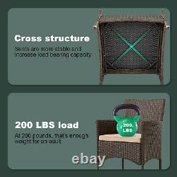 Patio Furniture Sets 3 Pieces Wicker Bistro Set Outdoor Patio Set Rattan Chair