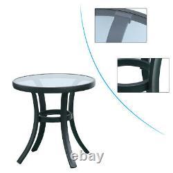 Patio Lounge Chair Sofa Rattan Wicker Outdoor Furniture Glass Coffee Side Table