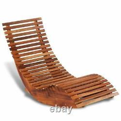 Patio Outdoor Rocking Chair Bench Acacia Wood Porch Rocker Garden Furniture